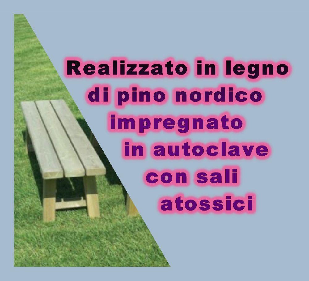 panca Italia in legno ideale per giardini pubblici Play