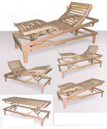 Rete in legno motorizzata singola ortopedica rinforzata - Rete letto legno ...