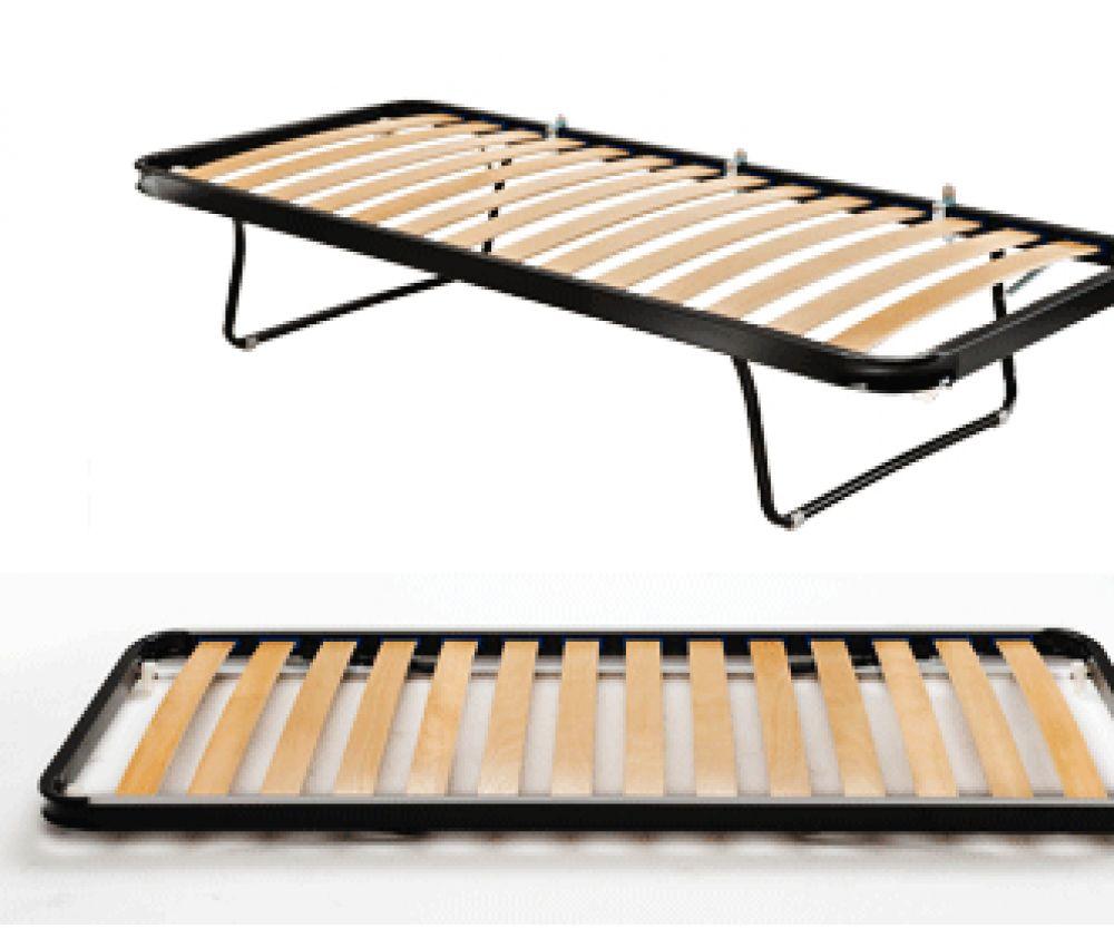Rete a doghe estraibile pieghevole con ruote 80x190 giwa for Ikea rete letto