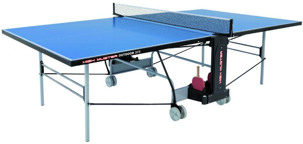 Tavolo ping pong pieghevole con ruote blu outdoor 373 certificato high muster - Costruire tavolo ping pong pieghevole ...