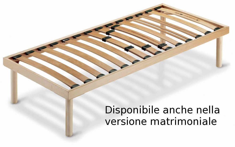 Rete letto in legno fissa ortopedica con doghe regolabili il prezzo si riferisce alla versione - Letto in legno ikea ...