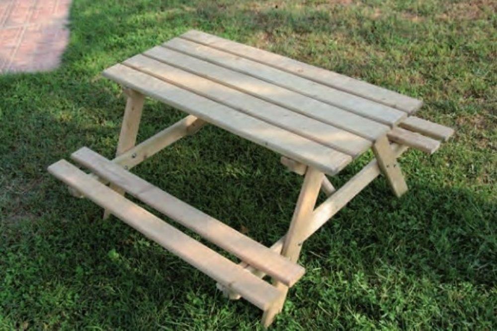 Panca Con Tavolo Da Giardino : Tavoli e panchine in legno da esterno per giardino