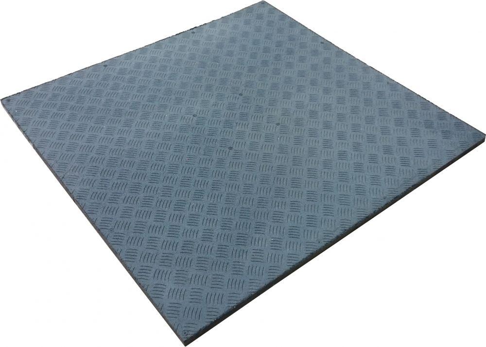 Tappeto gommato per palestre modello Pavipav 100x100x2
