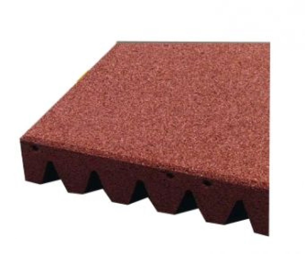 Piastrelle antitrauma rosso 50x50 sp 11cm c spinotti hic - Piastrelle esterno 50x50 ...