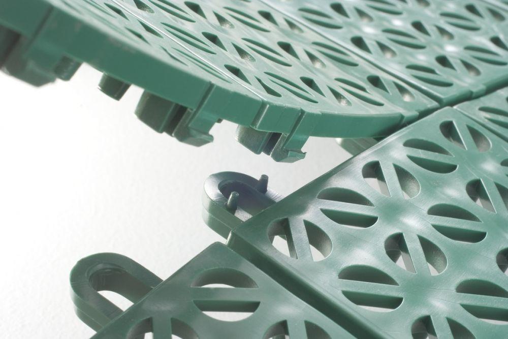 Pavimentazione in plastica flessibile modulare multi p giwa