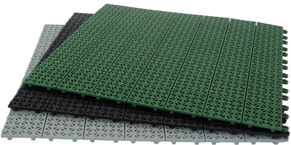 Pavimentazione in plastica flessibile modulare multi p giwa - Piastrelle giardino plastica ...