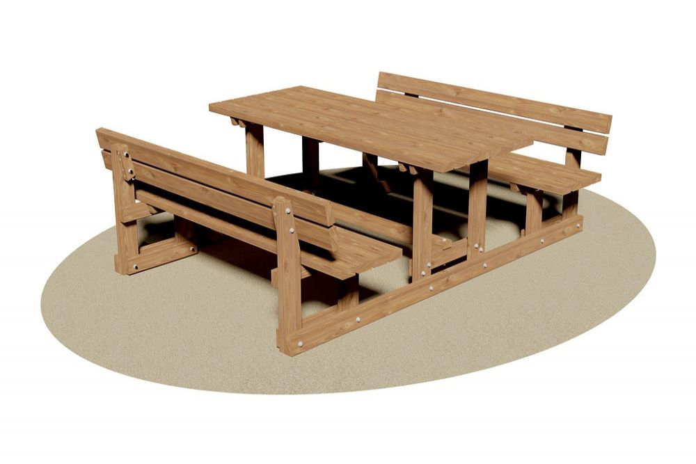 Tavolo pic nic con panche relax ideale per la sua seduta ergonomica gpk - Tavolo pic nic decathlon ...