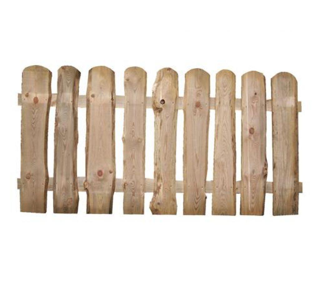 Staccionata rustica in legno di pino nordico resistente e - Legno resistente per esterni ...