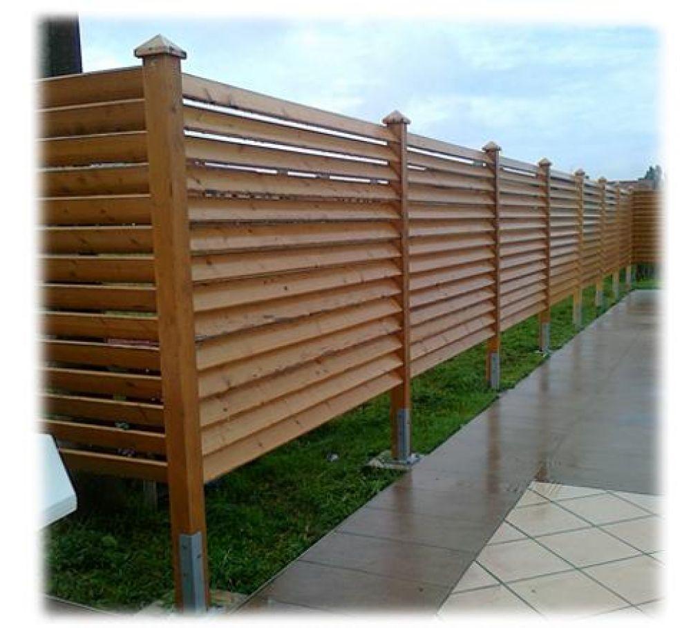 Staccionata pannello divisorio in lamellare di abete - Staccionate in legno per giardini ...