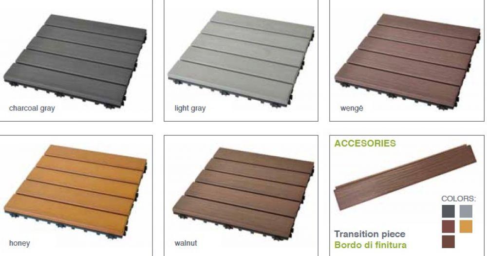 Pavimenti In Plastica Per Terrazzi.Pavimentazione Per Terrazzi In Hdpe Da Esterno Con Finitura Effetto