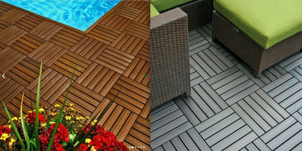 Pavimentazione per terrazzi in HDPE da esterno con finitura effetto ...