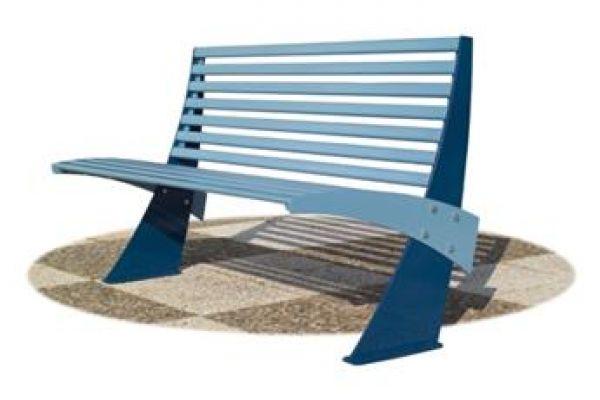 Panca Shogun in acciaio ideale per parchi e giardini pubblici GPK