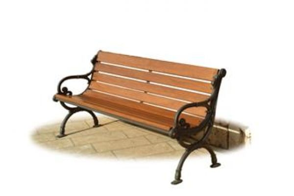 Panca Venezia in ghisa e legno ideale per giardini pubblici GPK