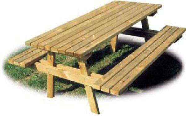 Tavolo week end con 2 panche sospese ideale per parchi e - Panche e tavoli da esterno ...