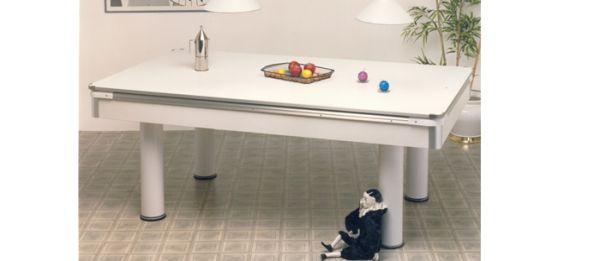 Carambola con piane di copertura pierrot 180 colore bianco sar - Carambola tavolo da pranzo ...
