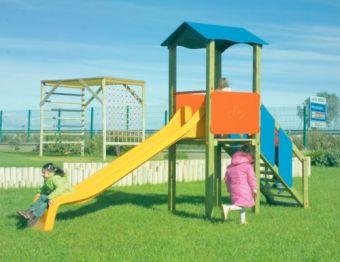 Torretta Sheriff con torretta; scala di risalita e scivolo ideale per parchi pubblici
