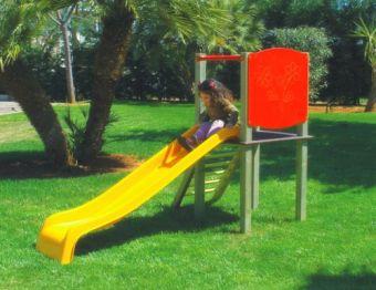 Torretta Brigitte - VERSIONE SMALL con torretta; scala di risalita e scivolo ideale per giardini pubblici