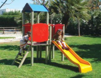 Torretta Caroline- VERSIONE SMALL con scala di risalita e scivolo ideale per parchi pubblici