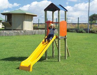 Torretta Melissa-VERSIONE BIG con scala di risalita e scivolo ideale per giardini pubblici