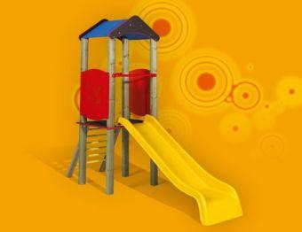 Torretta Melissa- VERSIONE SMALL con scala di risalita e scivolo ideale per parchi pubblici