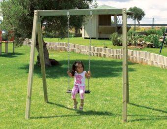 Altalena Alexia 1 posto con SEDILE PIANO ideale per parchi e giardini pubblici