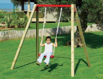 Altalena da giardino per bambini for Altalena legno usata