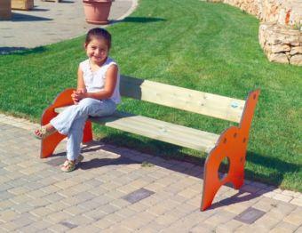 Panchetta Peter Pan in legno ideale per parchi e giardini pubblici