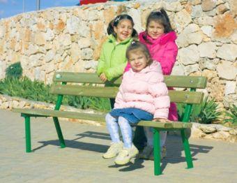 Panchetta Jessica in ferro e legno ideale per parchi e giardini pubblici
