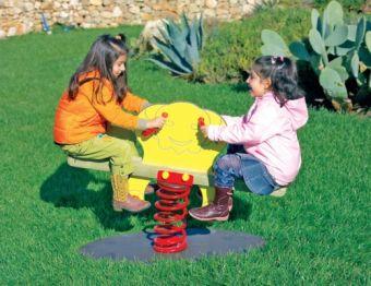 Gioco a molla Twin con due sedili ideale per parchi pubblici