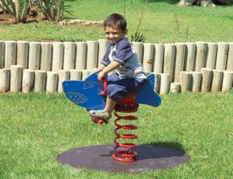 Gioco a molla Squalo ideale per parchi e giardini pubblici