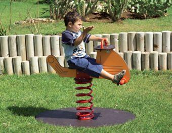 Gioco a molla Elicottero ideale per parchi e giardini pubblici