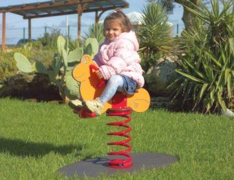 Gioco a molla Ranocchio ideale per parchi e giardini pubblici