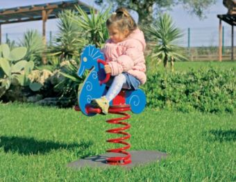 Gioco a molla Cavalluccio Marino ideale per parchi e giardini pubblici