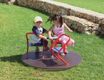 Giostra Corinne a tre posti ideale per parchi e giardini pubblici