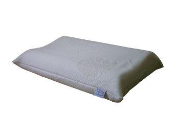 Cuscino in memory cervicale sfoderabile  con tessuto Lenpur fibra di legno