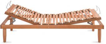 Rete in legno alza testa piedi manuale e doghe regolabili anatomica , piedi optional