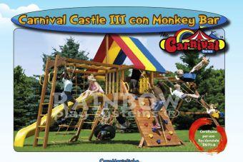 Struttura gioco Carnival Castle III con Monkey Bar