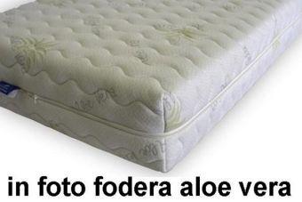 Materasso memory sfoderabile per divano letto altezza 12 cm finito