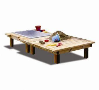 Tavolo gioco, con vasca e piano d'appoggio