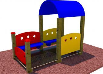 Casetta gioco Veranda con panchine