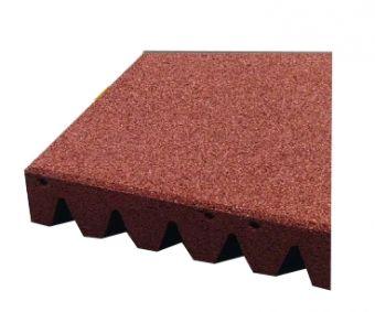 Piastrelle antitrauma rossa 50x50 sp 5cm  c/spinotti ( hic 1,6 )