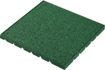 Piastrelle antitrauma verde 50x50 sp 5cm c/spinotti ( hic 1,6 )