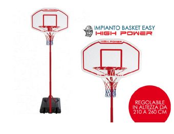 Canestro basket a colonna Easy