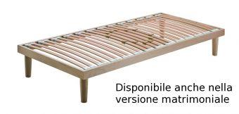 Rete letto in legno fissa anatomica con doghe regolabili  ( il prezzo si riferisce alla versione singola ) ,piedi optional