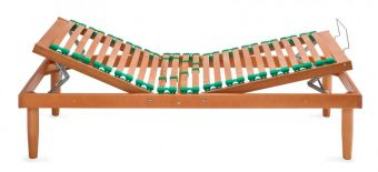 Rete in legno singola alza testa piedi manuale e doghe regolabili anatomica , piedi optional