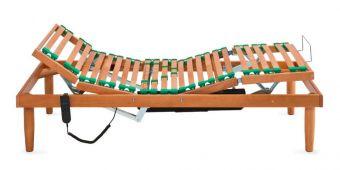 Rete in legno singola elettrica alza testa piedi e doghe regolabili anatomica , piedi optional