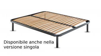 Rete in ferro con doghe in legno ortopedica ( il prezzo si riferisce alla versione singola ) , piedi optional