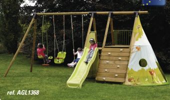 Struttura gioco in legno da giardino FORT JUNGLE
