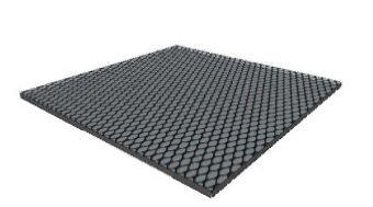 Pavimentazione tappeto in gomma non drenante nero 1000x1000x30