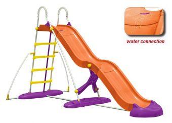 Scivolo plastica Maxi cm 365 a onda con attacco dell'acqua